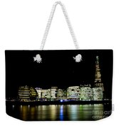 Southbank London At Night Weekender Tote Bag