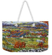 Souvenir 05 Chateau Richer Old Quebec By Prankearts Weekender Tote Bag
