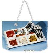 Space: Food Tray, 1982 Weekender Tote Bag