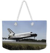 Space Shuttle Atlantis Touches Weekender Tote Bag