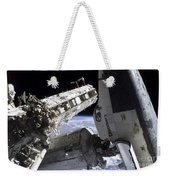 Space Shuttle Discovery Docked Weekender Tote Bag