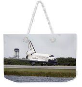 Space Shuttle Discovery On The Runway Weekender Tote Bag