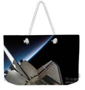 Space Shuttle Endeavour Backdropped Weekender Tote Bag