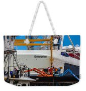 Space Shuttle Enterprise Weekender Tote Bag by Chris Lord