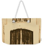 Spanish Fort Door Castillo San Felipe Del Morro San Juan Puerto Rico Prints Rustic Weekender Tote Bag by Shawn O'Brien