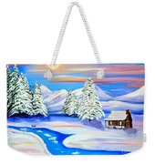 Sparkling Winter Weekender Tote Bag