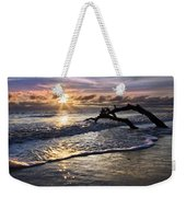 Sparkly Water At Driftwood Beach Weekender Tote Bag