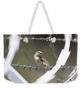 Sparrow - Protected By Razor Wire Weekender Tote Bag