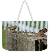 Sparrow And Chipmunk Coexist Weekender Tote Bag