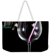 Speaker And A Glass With No Resonance Weekender Tote Bag