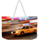 Speeding Cab Weekender Tote Bag