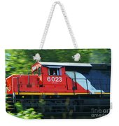 Speeding Cn Train Weekender Tote Bag