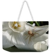Spider In Narcissus Weekender Tote Bag