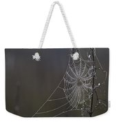 Spider Web Covered In Dew Drops Weekender Tote Bag