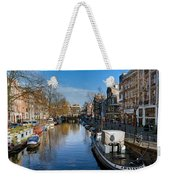 Spiegelgracht And Ship Amsterdam Weekender Tote Bag