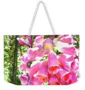 Spikes Of Pink Foxgloves Weekender Tote Bag