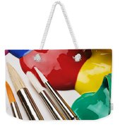 Spilt Paint And Brushes  Weekender Tote Bag by Garry Gay