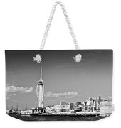 Spinnaker Tower And Round Tower Portsmouth Bw Weekender Tote Bag