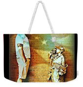 Spirit Of Freedom - Soldier And Son Weekender Tote Bag