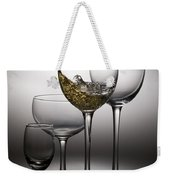 Splashing Wine In Wine Glasses Weekender Tote Bag