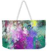 Splattered Colors Abstract Weekender Tote Bag