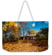Splendor Of Autumn. Wooden House Weekender Tote Bag