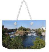 Spokane Falls Hdr Weekender Tote Bag by Carol Groenen