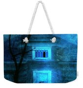 Spooky House With Moon Weekender Tote Bag by Jill Battaglia