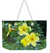 Spreading Petals On Tall Stemmed Bright Weekender Tote Bag