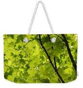 Spring - Beneath The Great Maple Weekender Tote Bag