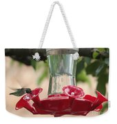 Spring Hummingbird At Feeder Weekender Tote Bag