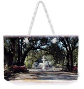 Spring Walk Through Forsyth Park Weekender Tote Bag