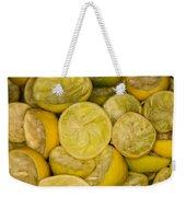 Squeezed Key Lime Halves Weekender Tote Bag