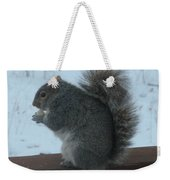 Squirrel Snack Weekender Tote Bag
