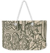 St. Catherine, Italian Philosopher Weekender Tote Bag by Photo Researchers