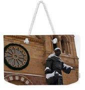 St Francis Cathedral In Santa Fe - Winter Weekender Tote Bag