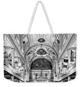 St. Louis Cathedral Monochrome Weekender Tote Bag