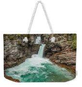 St. Mary Falls In Spring Weekender Tote Bag