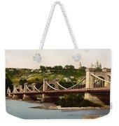 St Nicholas Bridge In Kiev - Ukraine - Ca 1900 Weekender Tote Bag
