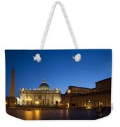 St. Peter's Basilica At Night Weekender Tote Bag