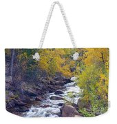 St Vrain Canyon And River Autumn Season Boulder County Colorado Weekender Tote Bag