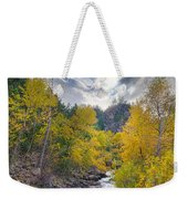 St Vrain Canyon Autumn Colorado View Weekender Tote Bag