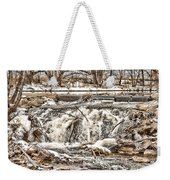 St Vrain River Waterfall   Weekender Tote Bag