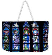 Stain Glass At Notre Dame Cathedral Parus Weekender Tote Bag