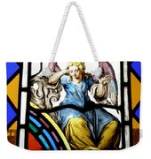 Stained Glass Angel Weekender Tote Bag