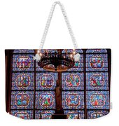 Stained Glass At Notre Dame Cathedral Weekender Tote Bag