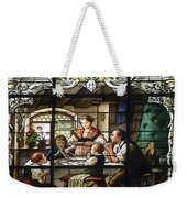 Stained Glass Family Giving Thanks Weekender Tote Bag