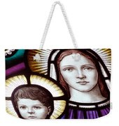 Stained Glass Holy Family Weekender Tote Bag