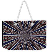 Stained Glass Kaleidoscope 49 Weekender Tote Bag
