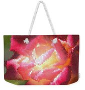 Stained Glass Rose Weekender Tote Bag